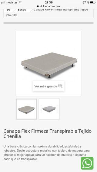 COLCHON Y CANAPÉ FLEX, 90x180. CASI ESTRENAR!