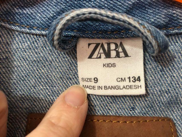 Cazadora denim niña Zara talla 9 años