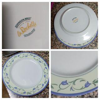 Platos porcelana Johnson Bros. England.