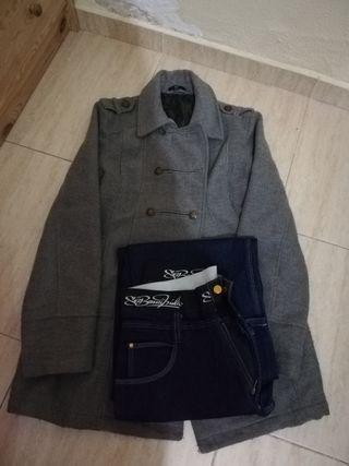 lote abrigo y pantalón