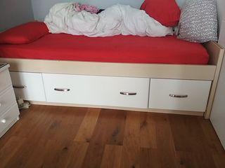 cama con cajones y colchón icluido