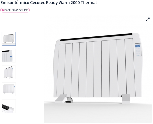 Emisor térmico Cecotec Ready Warm 2000 Thermal