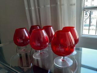 Copas cristal rojo