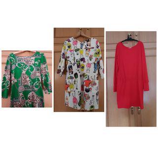 lote 3 vestidos.talla M