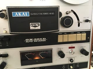 Magnetofono AKAI GX-365D autoreverse y microfonos