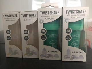Biberones twistshake y contenedores