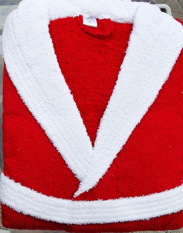 Albornoz NUEVO rojo y blanco