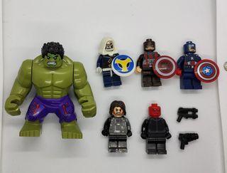 figuras tipo lego Avengers