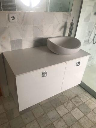 Mueble baño con grifería