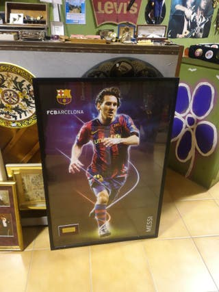 Póster firmado por Messi años 90, original