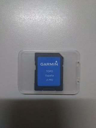 Targeta mapa GPS GARMIN Topo España V5 PRO Origina