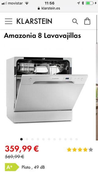 Lavavajillas compacto en garantia