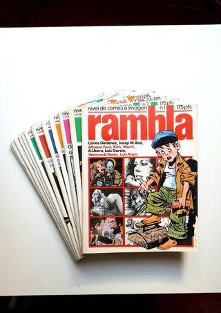 RAMBLA. 12 números. Cómics españoles años 82-84