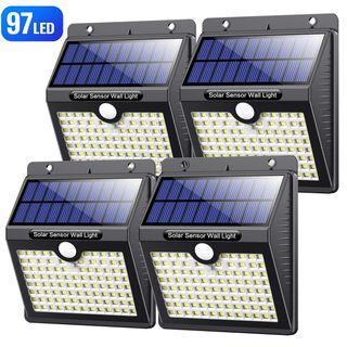 4 Focos solares LED con 97 led (A ESTRENAR)