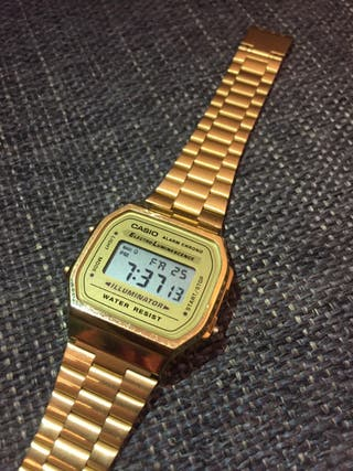 Reloj CASIO vintage DORADO A168