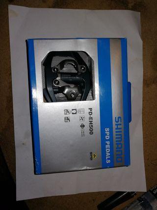 pedales mixtos shimano spd - EH500 y asiento