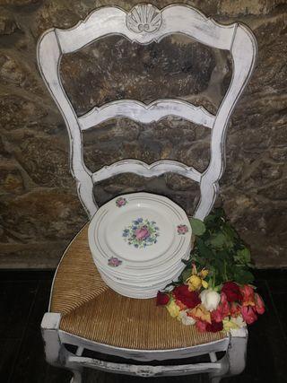 Platos porcelana francesa