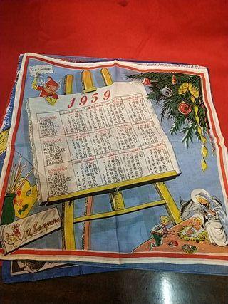 pañuelos calendarios años 50 y 60