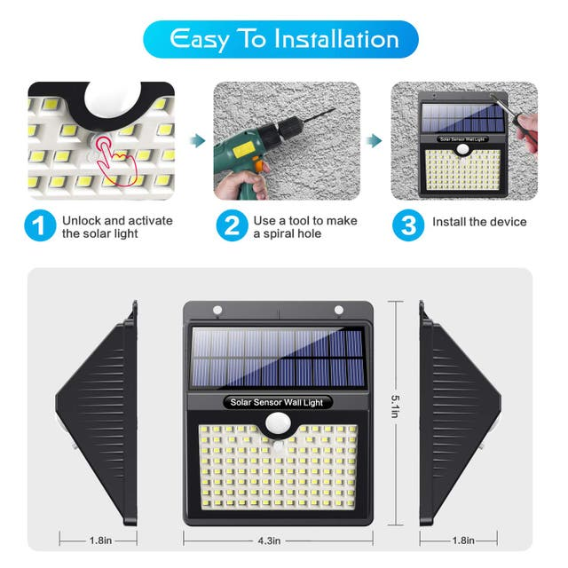 2 Focos solares LED con 97 led (A ESTRENAR)