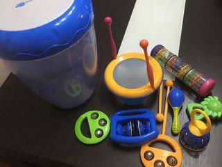 Caja de instrumentos musicales bebes