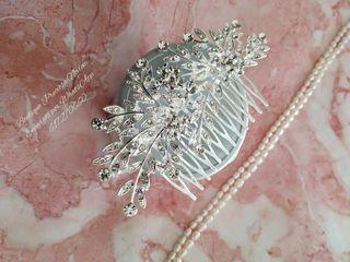 Preciosa Peineta de novia invitada tocado boda
