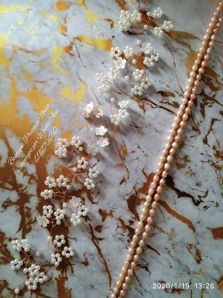 Tocado Floral Artesanal a medida tiara de novia