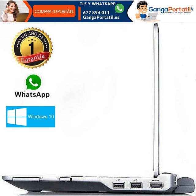 Portátil Dell E6320, i5 / 8gb Ram / HDMI / SSD / W