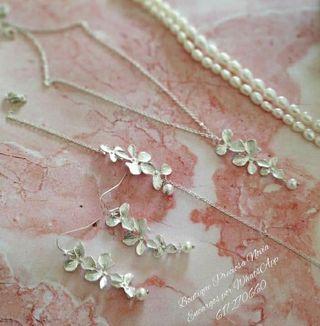 Oferta ! Collar + Pendientes + Pulsera ,joya novia