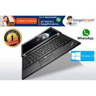 Portátil Lenovo X230, i5 / 8Gb Ram / Cam / 500Gb /