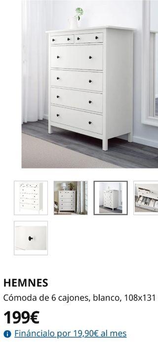 cómoda Ikea seis cajones