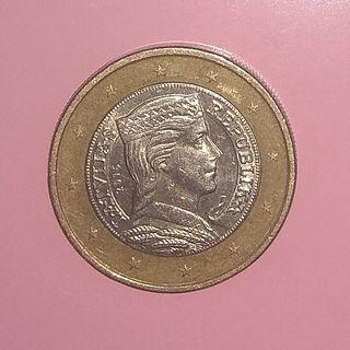 moneda 1 euro Letonia 2016