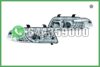 FAROS LED+INTERMITENTE CROMO AUDI A4 B5