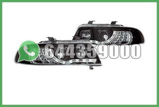 FAROS LED+INTERMITENTE NEGROS AUDI A4 B5