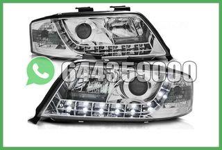 FAROS DELANTEROS AUDI A6 4B LED CROMO
