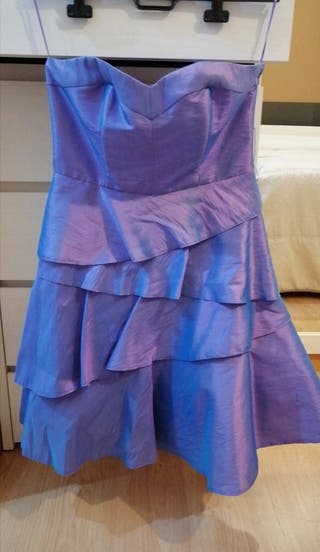 vestido corto de fiesta.