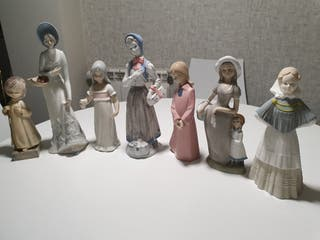 7 Figuras de Porcelana española, 2 Rex, 1 Dar't