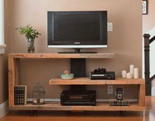 Mueble tv madera hierro industrial