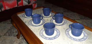 Juego de café o te azul