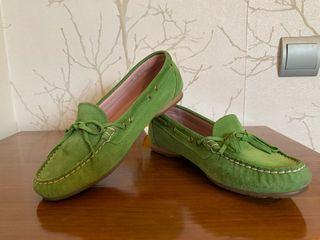 Zapatos verde manzana piel de melocotón T37