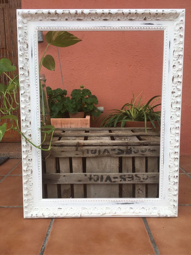 Antiguo marco de madera tallada GRANDE
