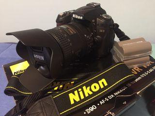 Nikon D90+Objetivo 18-200 Nikon