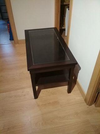 mesa de centro elevable madera
