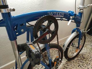 Bicicleta plegable 16 teen aluminium