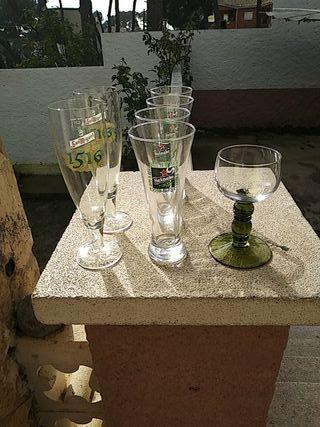 copas y vasos cerveza