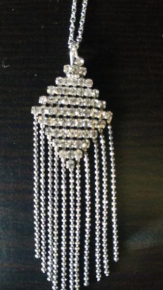 Collar plata con circones