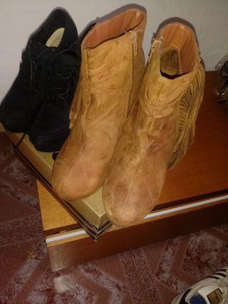 zapatos de tacom y cuña