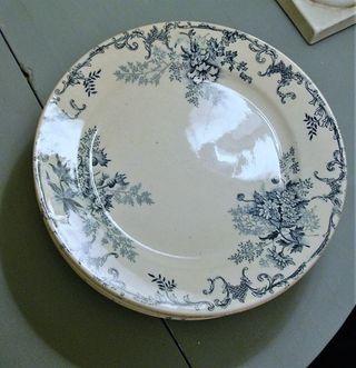 Platos franceses Terre de Fer siglo XIX