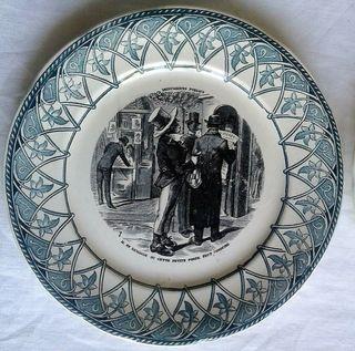 Platos antiguos Digoin & Sarreguemines siglo XIX