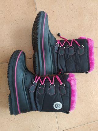 botas nieve, apreski número 33