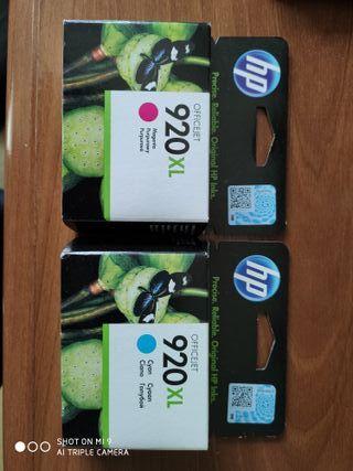 Cartuchos tinta HP 920 XL Cian y Magenta
